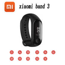 Original Xiaomi Mi Band 3 Band3 Smart Wristband Bracelet 0.78″ OLED Touchscreen 5ATM Swim Reject-Call Pulse Heart Rate Step Time
