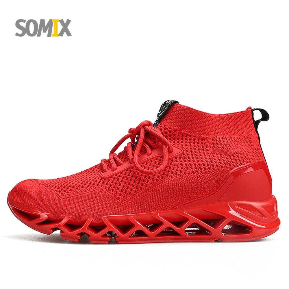 2018 Somix Breathable Summer Style Light Running Shoes Men Sneakers Bounce Outdoor Sport shoes Professional Training Shoes Male
