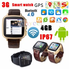 3G Android 4.4.2 Dual Core WIFI Android Smart Watch 4GB Camera 5.0 GPS Digital Smartwatch SIM Smartphone Watch FM Bluetooth 4.0