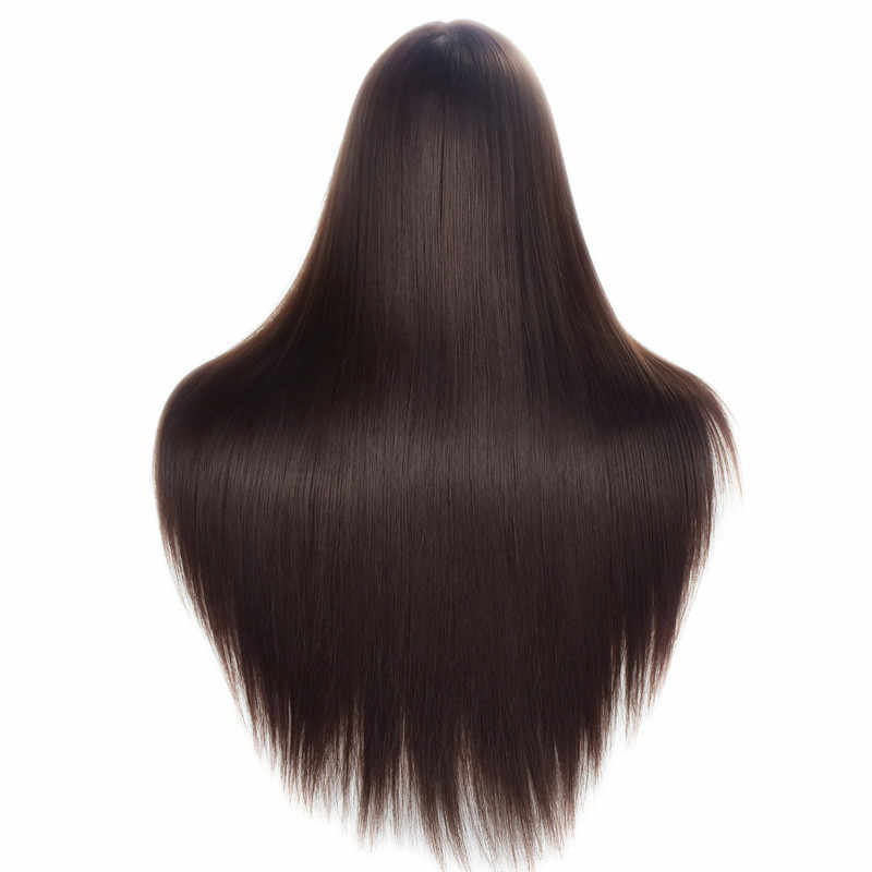 "Free Shipping 26"" Synthetic Hair Styling Training Mannequin Head Cosmetology Manikin Head Hair Practice Wig Head With Free Clamp"