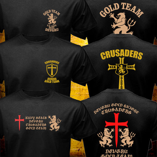 New Summer Tops US Crusaders Seal Team Six Gold Team Special Force Men Women Black T shirt High Quality Cotton T-Shirts