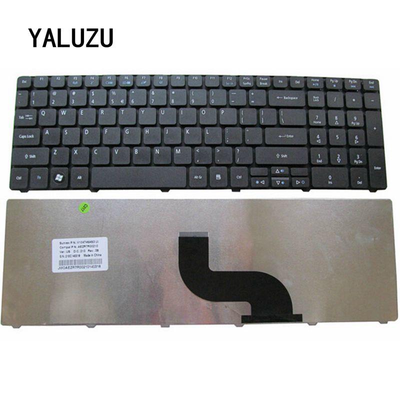 YALUZU NEW US Keyboard For Acer FOR Aspire 7741 7741G 7741Z 7745G 7745Z 7735 7739 8942 8942G 7551 7551G US Laptop Keyboard Black