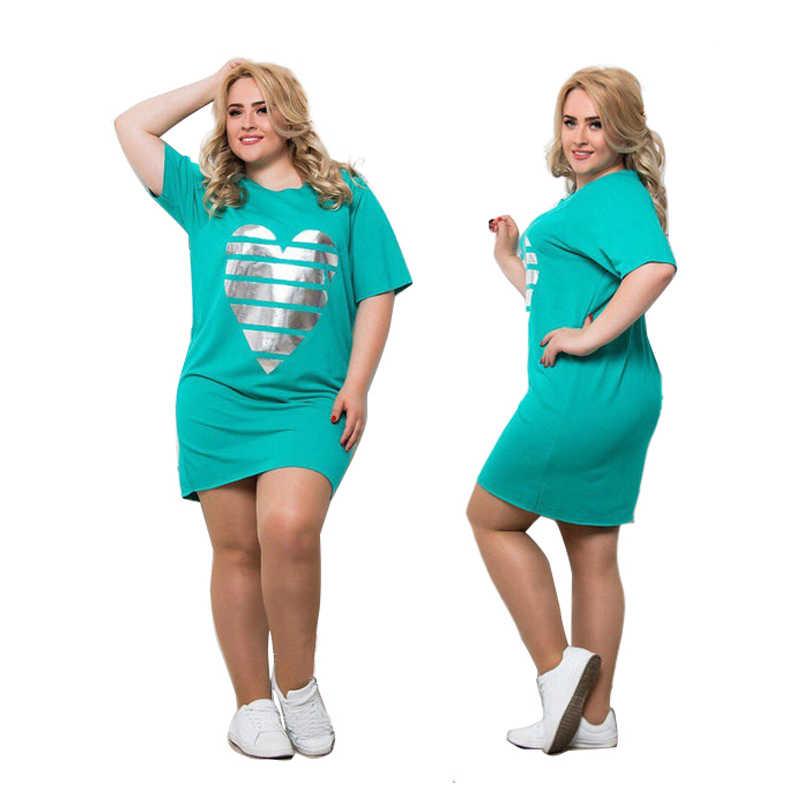 2020 Nieuwe Vrouwen Vestidos Plus Size Zomer Jurk Maxi Oversized 6XL O Hals Casual Straight Patchwork Boven Knie Mini Jurken party