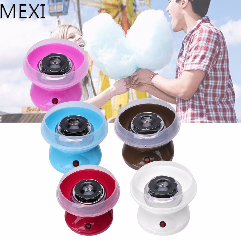 MEXI Mini Portable Electirc Candyfloss Making Machine Home Cotton Sugar Candy Floss Maker Party DIY US EU Plug itop electirc cotton candy maker candyfloss making machine cotton sugar candy floss maker fancy art candy cloud party pink diy