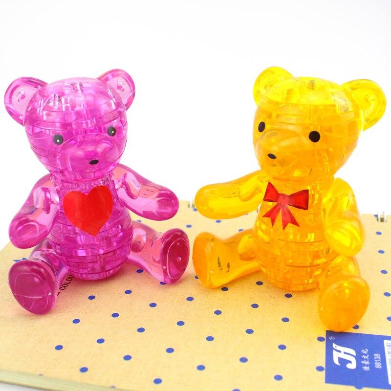 День защиты детей 3D кристалл головоломки творческие подарки игрушки тед DIY милый Плюшевый медведь дети любимая игрушка