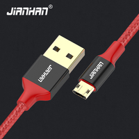 JianHan Reversible Micro USB Cable Braided 1m 2m Fast Charger USB Data Cables for Xiaomi,Samsung,Huawei,LG,Motorola Android