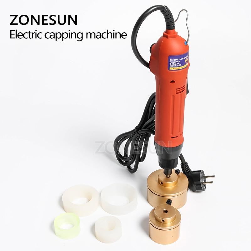 ZONESUN 28-32mm plastikowa butelka Capper automatyczne elektryczne ograniczenie maszyny zakręcarka do nakrętek elektrycznych