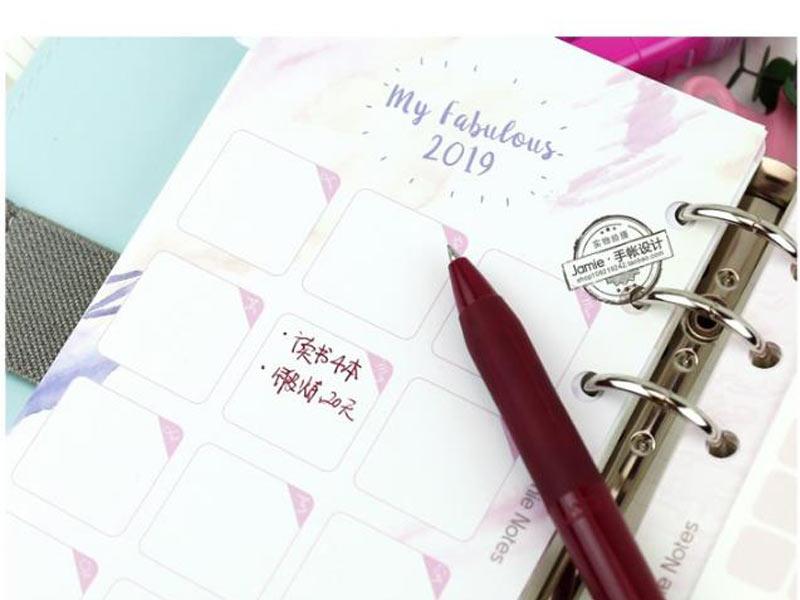 Liefern Nette Kawaii A6 Tragbare Notebook Reise Spirale Persönliche Tagebuch Pu Leder Notebook Wöchentliche Programm Planer Organizer 2019 Office & School Supplies