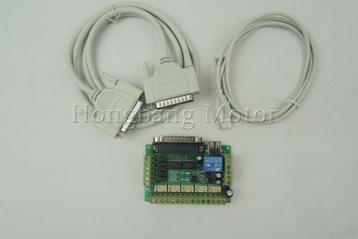 ЧПУ комплект 4 оси, 4 шт. TB6600 4.5a Драйвер шагового двигателя + 4 шт. NEMA23 270 унций в двигатель + 5 Ось Интерфейсная плата + источника питания