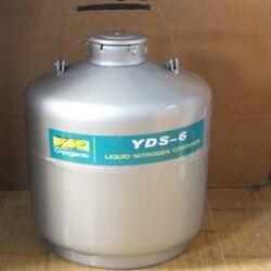 Ze stopu aluminium ze stopu aluminium zbiornik kriogeniczny 6L przechowywanie ciekłego azotu pojemnik 284mm zbiornik na ciekły azot YDS-6