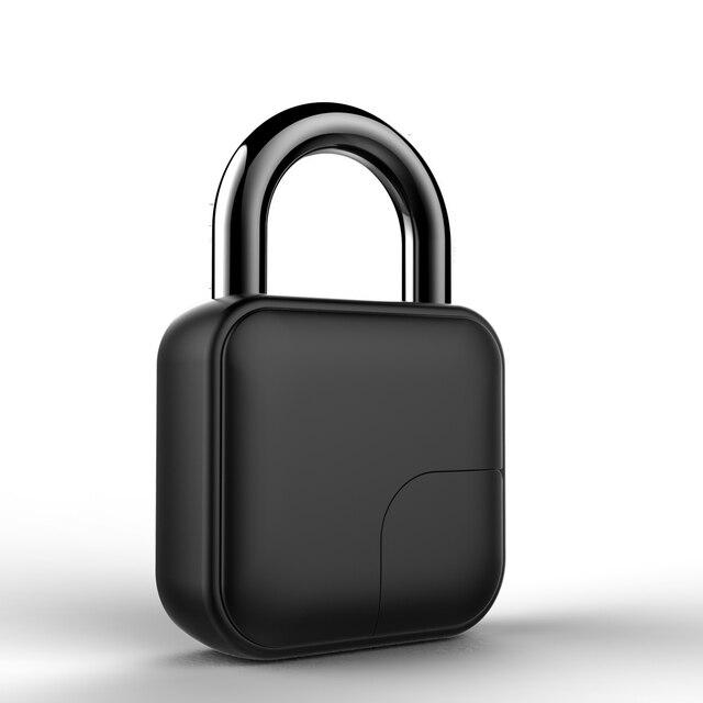 Usb rechargeable smart lock keyless fingerprint lock ip65 waterproof anti-theft security padlock door luggage case lock fll3 5