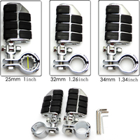 Chrome Highway Foot Pegs Foot rest For Harley 25mm 32mm 34mm For Harley Dyna Fatboy For Honda Shadow VTX1300C/ 1800C