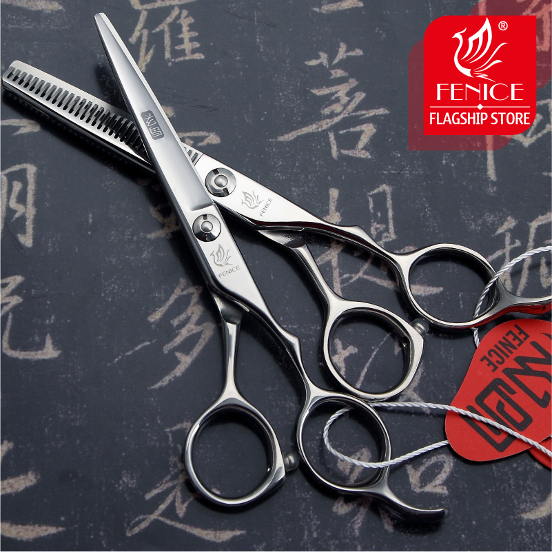 High quality JP440c 1 Set 5.5 6.0 inch hair cutting thinning scissors beauty salon hot sale hairdressing styling tool hot sale wave shape hair clip women and handsome men beauty modeling tool