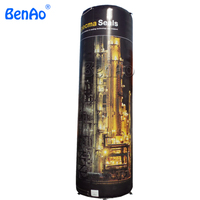 Z148 BENAO Free shipping+Air pump 4m Airtight Custom inflatable advertising column with 0.6mm pvc tarpaulin for sale