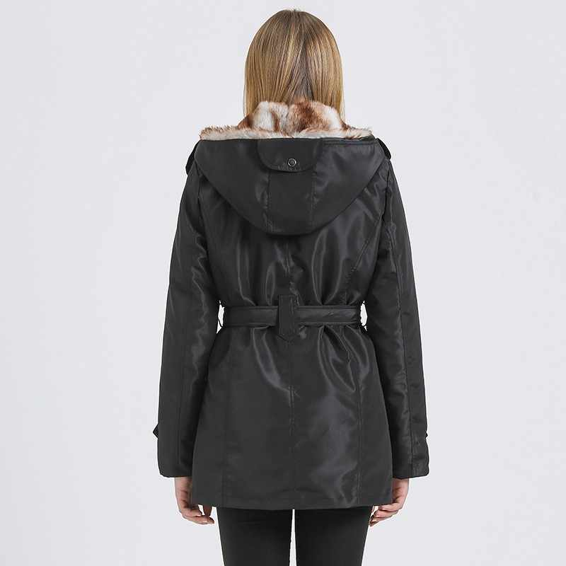 4b39c8518 HEE GRAND Women Basic Jackets Winter Coats Faux Fur Woman Warm Parka Hood  Coat Plus Size S-3 XL Oversize 2 Pieces Sets WWM056
