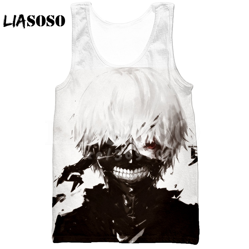 Newest Men//Women/'s Anime Tokyo Ghoul 3D Print Vest Summer Casual Tank Top