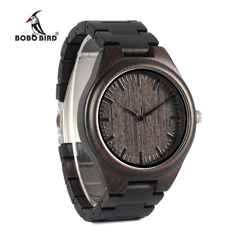 Zegarek drewniany Bobo Bird Heban H05 12