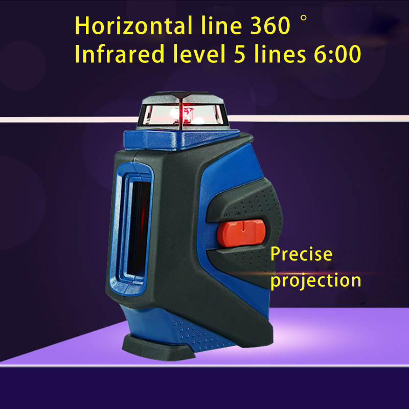 New Five-line laser level Outdoor green level meter Red infrared level laser line vote Marker kapro laser level laser angle meter investment line instrument 90 degree laser vertical scribe 20 meters