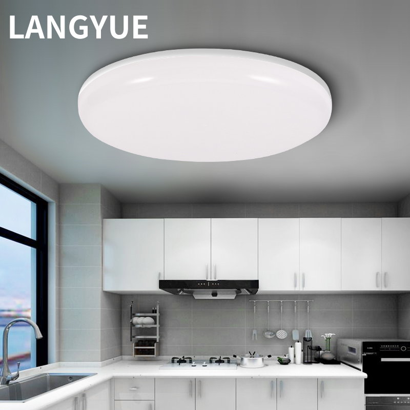 Led Panel Light Ceiling Lamp 220v Spot Round Downlight Surface Mounted 15/20/30/50W Pvc Ceiling Panels Indoor Living Room Lights