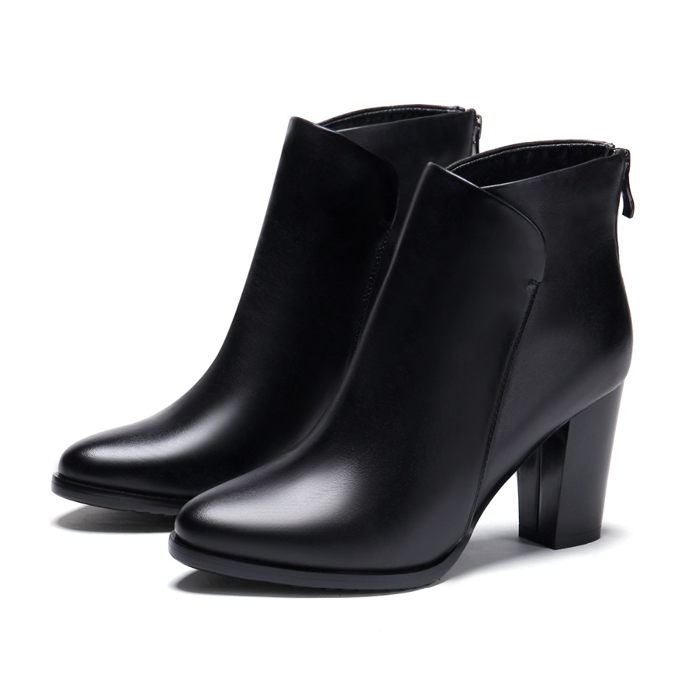 2017 Spring Autumn New Fashion Genuine Leather Chelsea Boots Women Ankle Boot Comfortable Casual Round Toe High Heel Boot Woman zokol bearing nj1030em 42130eh cylindrical roller bearing 150 225 35mm