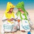 Retail-13 colores Capucha Animal modelado Bebé Albornoz/Bebé de la Historieta Toalla/Personaje kids bath robe/toallas de baño infantiles