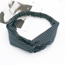 LNRRABC Sale  1PC 2018 New Arrival Version Fashion Lovely Striped Bow Cloth Knited Hairband Unique Women Girls Elastic Headband