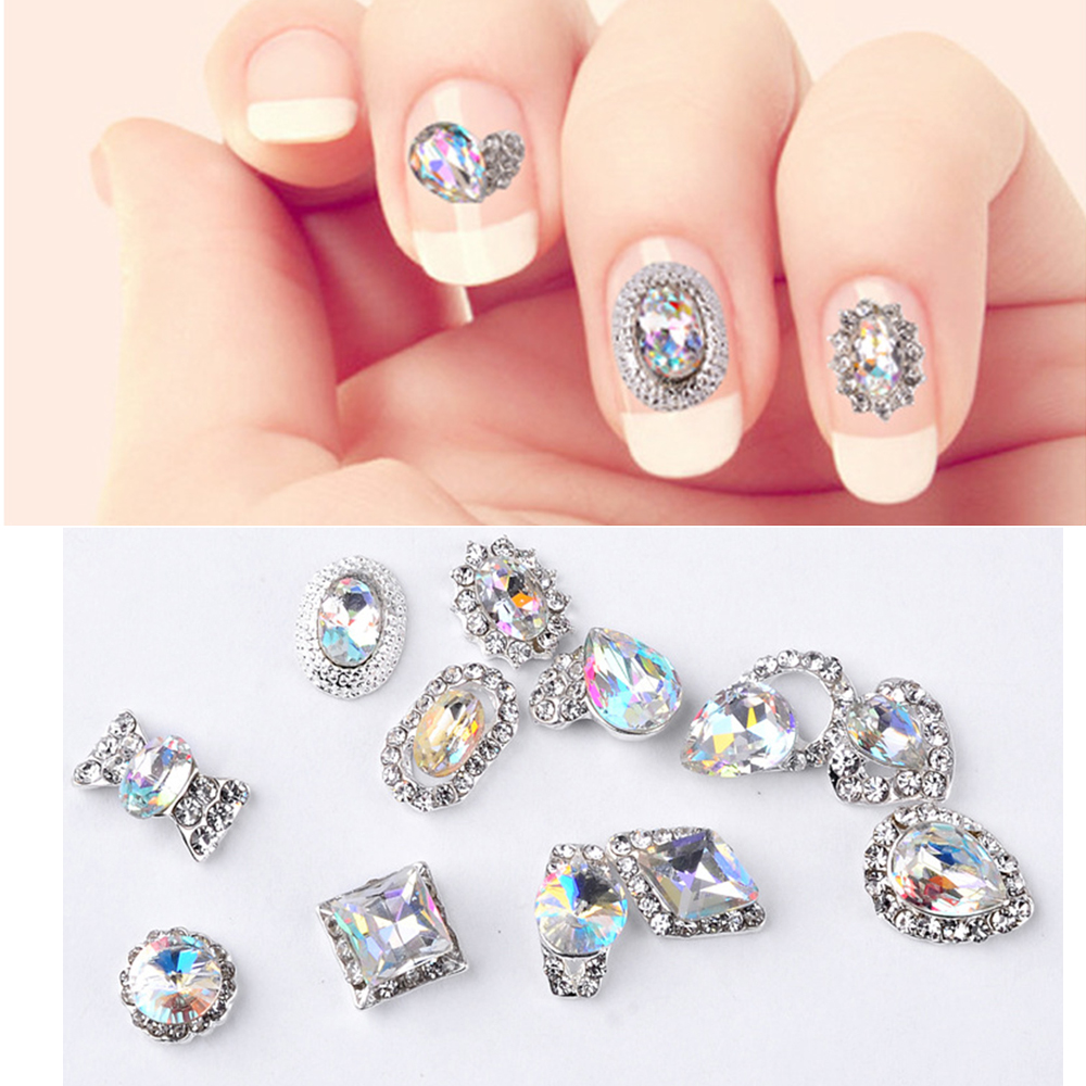 12pcs lot nail art 3d flower jewelry