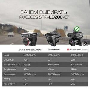Image 3 - Ruccess detector de carro dvr radar, gps 3 em 1 full hd 1296p 1080p, gravador de vídeo, lente dupla câmera do painel russo