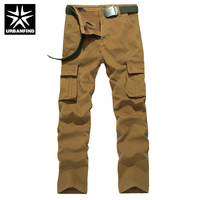 URBANFIND Good Quality Men Military Cotton Trousers Size 29-38 Multi Pocket Man Casual Long Pants No Belt
