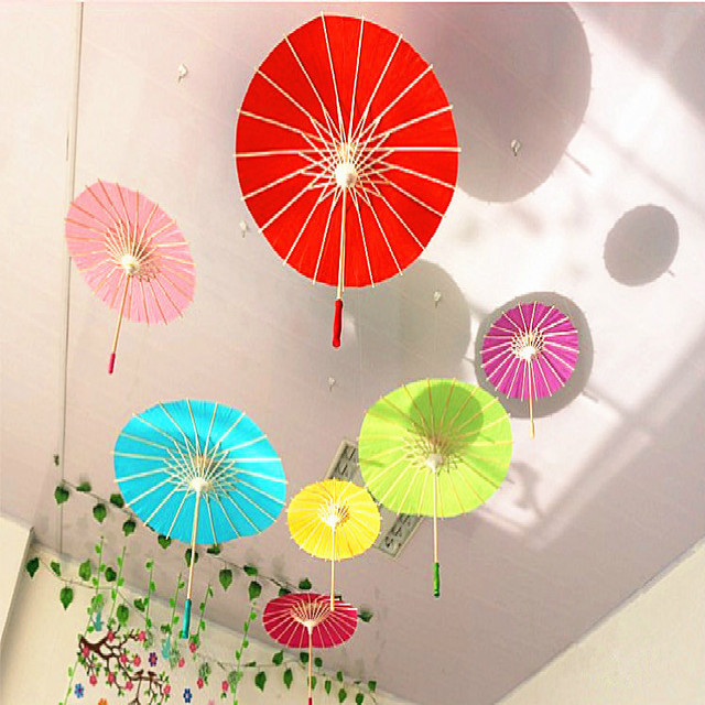Hot Sale 60cm Handmade Oiled Paper Umbrella Multicolor Background Creative DIY Manual Painting Color Decoration Craft