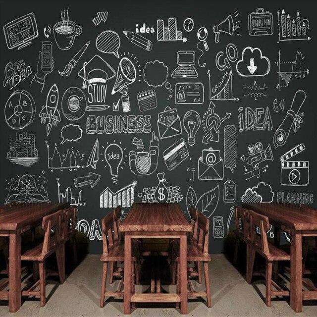 3d Muur Papier Vintage Decoratieve Schilderkunst 3d Behang voor Bars Muarl Home Improvement Handgeschilderde Schoolbord Behang.jpg 640x640 - Schoolbord Behang