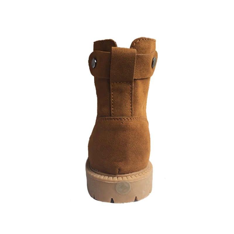 Yüksek Kaliteli Kadın Kar Botları 2019 Sonbahar Kış Çizmeler ayak bileği bağcığı Rahat Marka Kış Ayakkabı kadın Çizmeler Peluş Sıcak ZH1276