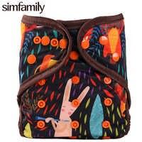 [Simfamily] 1PC Reusable Tuch Windel Abdeckung Waschbar Wasserdichte Baby Windel PUL Anzug 3-15kgs Großhandel Einstellbare Windel