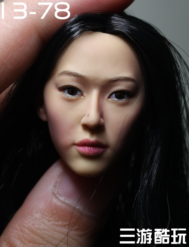KUMIK 1/6 scale female head shape for 12 action figure doll accessories doll head carved not include the body and clothes 13-78 die shi spot burning the soul of a model burns 1 6 head carved figures are base contains mask