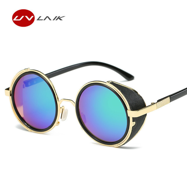Vintage Gothic Steam Punk Sunglasses Men Shield Windproof Eyeglasses Brand Metal Sun Glasses For Men UV400 cfBVgf5y