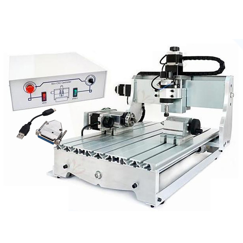 USB CNC 6040 4 Axis CNC Milling Engraver Machine to Russia no tax no tax to russia 4 axis cnc milling machine cnc 6040 router engraver usb 2 2kw with rotary axis cnc controller and limit switch