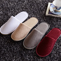 4Colors Wholesale New Spring Summer Hotel Slippers Non-Slip Home Hospitality Guest Indoor\Floor Slippers Flat Shoes