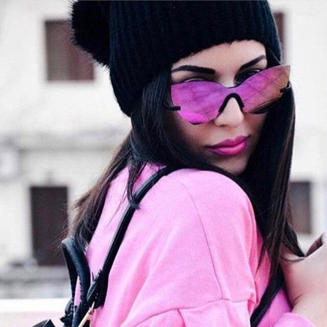 Or Dame Lunette Eye Hommes De REFECTIVE Femmes lunettes Seule Rose de Miroir de Luxe Marque lunettes D'une Pièce Femmes Soleil Soleil Soleil Cat vvxrwnqS7