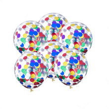 Фотография 10pcs/lot Creative 12 inch Colorful Confetti Balloon Romantic Wedding Decoration Festival Birthday Party Supplies 6D