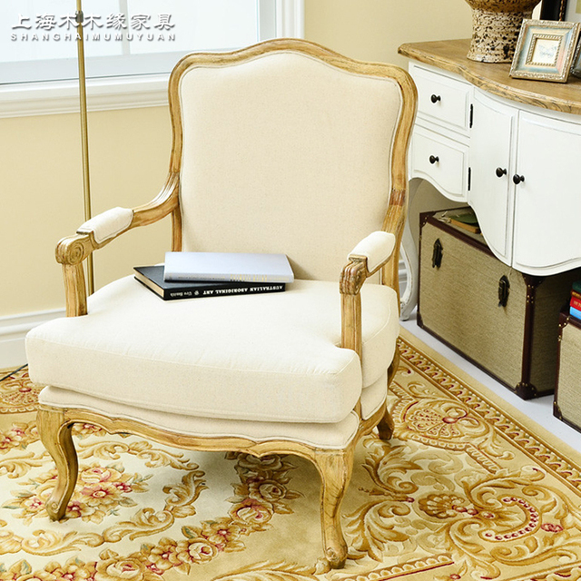American country Armchair export model house antique French chairs do the  old neo-classical lounge - American Country Armchair Export Model House Antique French Chairs