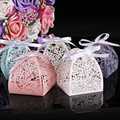 50Pcs Laser Cut Flower Wedding Candy Box Wedding Gift For Guest Wedding Favors And Gifts Christmas and Birthday Party Decoration
