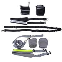 Elastic Belt Running Dog Leash Lead Sports Jogging Walking Pet Collar Rope Hand Free Waist Dog
