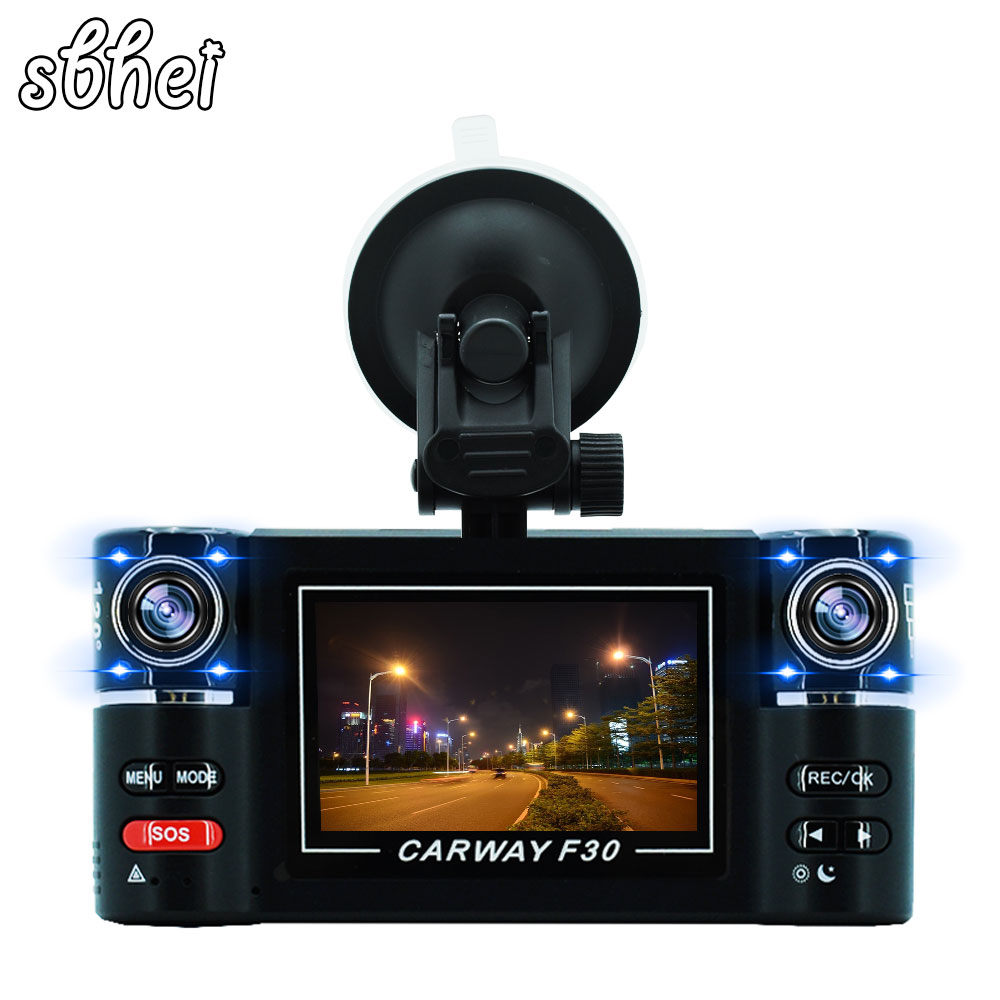 Car DVR 2.7 TFT LCD HD 1080P Rotated Dual Lens Dash Camera Vehicle Digital Video Recorder Camcorder Night Vision 2 7 inch r310 tft lcd dual 2 lens car dvr video recorder