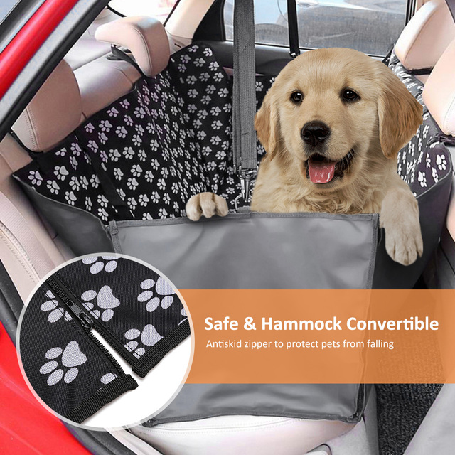 Pet carriers Oxford Fabric Paw pattern Car Pet Seat Cover Dog Car Back Seat Carrier Waterproof Pet Mat Hammock Cushion Protector 1