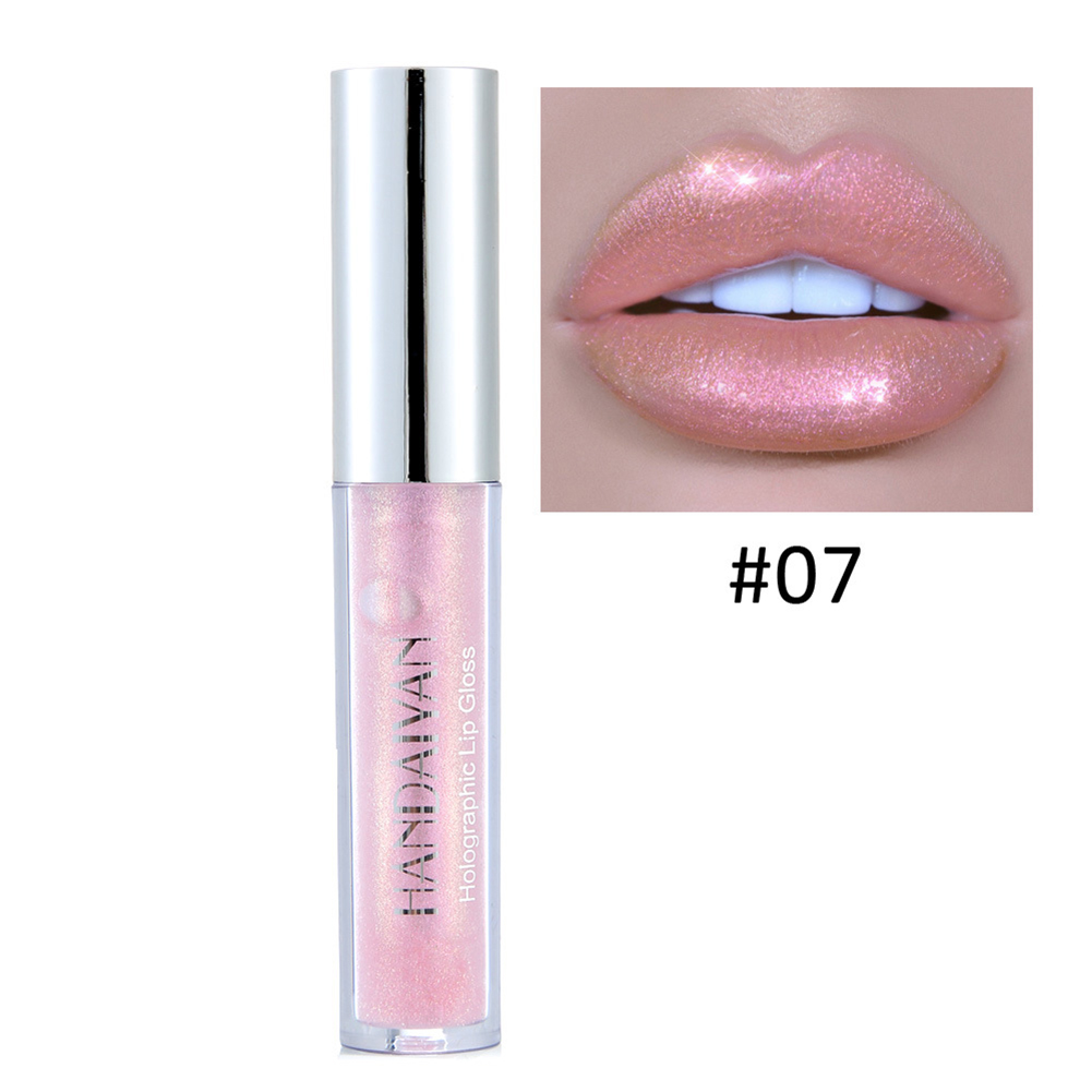 HANDAIYAN Glitter Liquid Lip Gloss Long Lasting Shimmer Sexy Lip Tint Waterproof Moisturizer  Cosmetics TSLM1