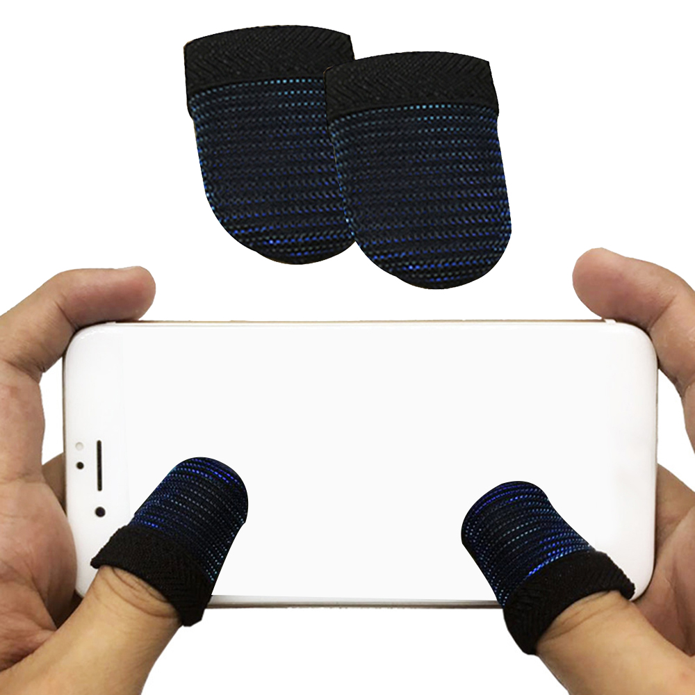 1 Pair PUBG Mobile Finger Stall Sensitive Game Controller Sweatproof Breathable Finger Cots Accessories For Iphone Adnroid Game
