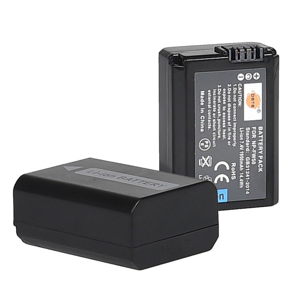 DSTE 2 шт. NP-FW50 NP-FW50 батарея для камеры sony NEX-5N, NEX-F3, A7, NEX-5R, NEX-6, NEX-3, Alpha 7R II, a6500, a6400, a6100