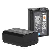 DSTE 2PCS NP-FW50 np-fw50 Camera Battery for Sony NEX-5N,NEX-F3,A7,NEX-5R,NEX-6,NEX-3,Alpha 7R II,a6500, a6400,a6100