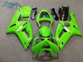 Custom ABS fairings kit for KAWASAKI Ninja ZX 6R 2003 2004 Injection sports fairing kits ZX6R 636 03 04 green aftermarket parts