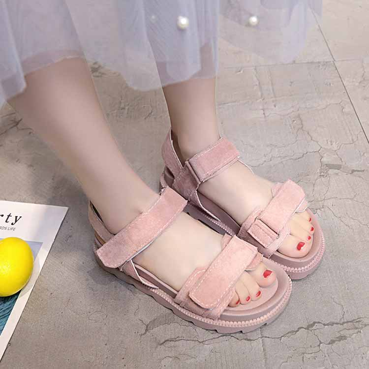 Women shoes adult solid sandals women 2019 fashion med heel height women sandals flat with casual shoes woman sandals female  (8)